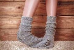 cosy sock feet